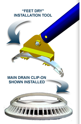 Main Drain Clip On Pool Maintenance Simplified